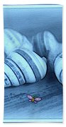 Blue Seashells Bath Towel