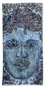 Blue Self Portrait Bath Towel
