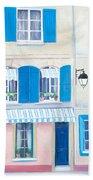 Blue Shutters Arles France Bath Towel