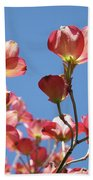 Blue Sky Art Prints Pink Dogwood Flowers 16 Dogwood Tree Art Prints Baslee Troutman Bath Towel