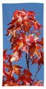 Blue Sky Fall Tree Leaves Landscape Art Prints Baslee Troutman Bath Towel