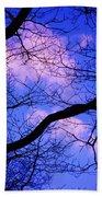 Blue Sky Through The Trees Bath Towel