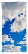 Blue Sky With Cloud Closeup 2 Bath Towel