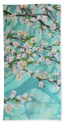 Blue Spring Bath Towel