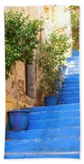 Blue Stairs Hand Towel
