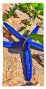 Blue Starfish Bath Towel