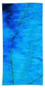 Blue Stone Abstract Bath Towel
