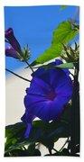 Blue Summer Flower Bath Towel