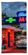 Blue Swallow Motel Bath Towel