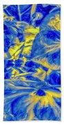 Blue Tango Floral Bath Towel
