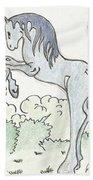 Blue Unicorn Bath Towel