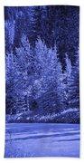 Blue Vail Hand Towel