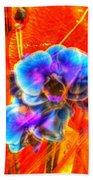 Blue Velvet Orchids Bath Towel