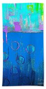 Blue Water And Sky Abstract Bath Towel
