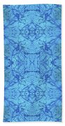 Blue Water Batik Tiled Bath Towel