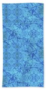 Blue Water Patchwork Hand Towel