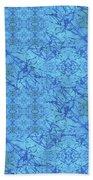 Blue Water Patchwork Bath Towel