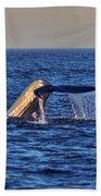 Blue Whales Tail Bath Towel
