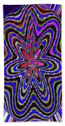 Blue White And Red Abstract #2944e2c Bath Towel