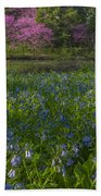 Bluebells And Redbuds Bath Towel