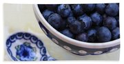 Blueberries And Spoon  Bath Towel