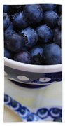 Blueberries With Spoon Bath Towel