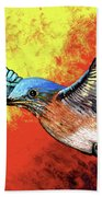 Bluebird In Flight Bath Towel