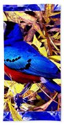 Bluebird Of Happiness Bath Towel