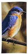 Bluebird Portrait Bath Towel