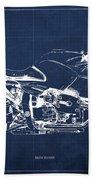 Blueprint For Men Office Decoration. R1100s Blue Background Bath Towel