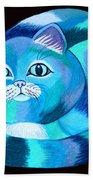 Blues Cat Bath Towel