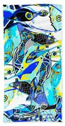 Blues Fishes Hand Towel
