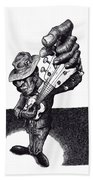 Blues Guitar Bath Towel