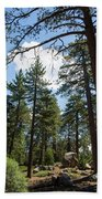 Bluff Lake Ca Through The Trees 4 Hand Towel