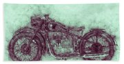 Bmw R32 - 1919 - Motorcycle Poster 3 - Automotive Art Bath Towel