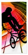 Bmx In Lines And Circles Bath Towel