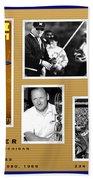 Bo Schembechler Legend Five Panel Bath Towel
