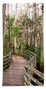Boardwalk Through Corkscrew Swamp Bath Towel
