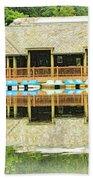 Boat House At Verona Park  Bath Towel