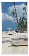 Boat On The Beach Bath Towel
