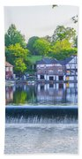 Boathouse Row - Framed In Spring Bath Towel