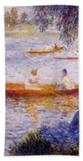 Boating At Argenteuil 1873 Bath Towel