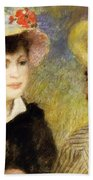 Boating Couple Aline Charigot And Renoir 1881 Bath Towel