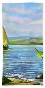 Boats At Lake Victoria Bath Towel