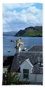 Boats At Portree Bath Towel