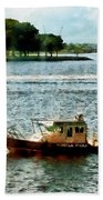Boats - Police Boat Norfolk Va Bath Towel