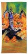 Bobcat Kittens 1 Bath Towel