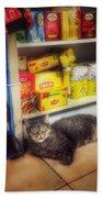 Bodega Cat - At Home In New York Bath Towel