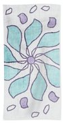 Boho Floral Mandala 4- Art By Linda Woods Bath Towel