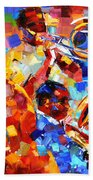 Bold Jazz Quartet Bath Towel